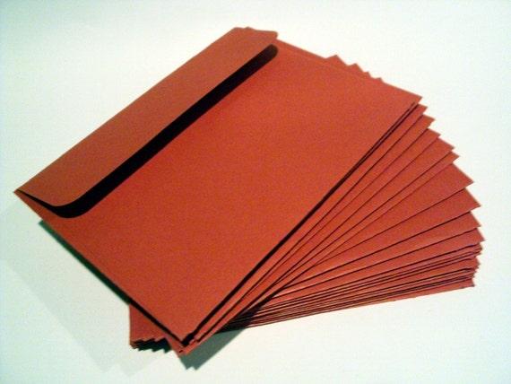 Red 5.75 x 4.50 inch handmade cardstock envelopes self seal