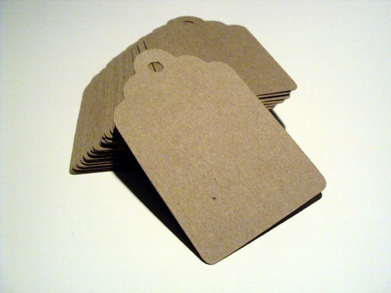 Kraft Paper Brown Tags 3 inches set of 50
