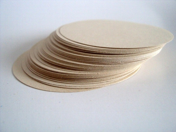 Light Beige Circles 2.5 inches set of 100