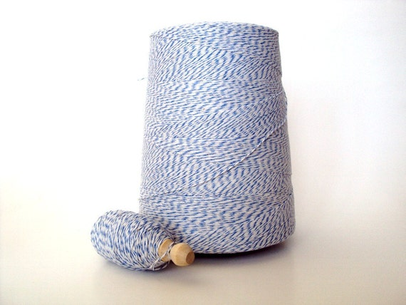 Ocean Blue & White Baker's TWINE 75 yards Dollar Shipping USA and Reduced Shipping for International
