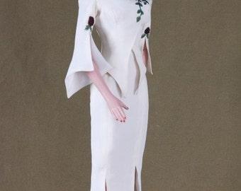 HUGE DISCOUNT!  The Rose Suit, Robert Tonner American Model Doll, Handmade Christmas Gift, One Of A Kind Silk Designer Suit