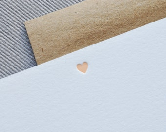 heart letterpress cards