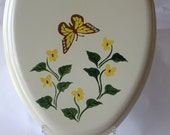 NEW Handpainted Toilet Seat Wood Home Decor OOAK (one of a kind)