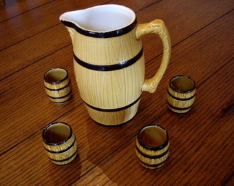 Vintage Western Germany Beer Pitcher Barware 1956