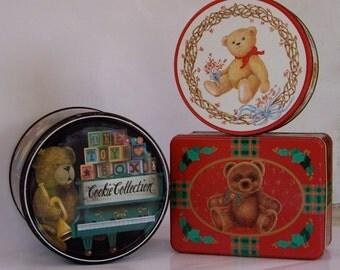 Vintage Tins Christmas Cookies Candies and Goodies 1990