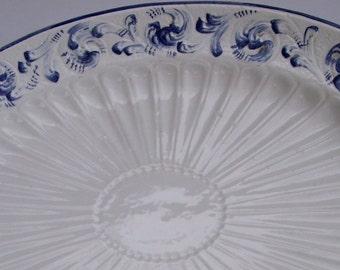 Vintage Platter Italian Handmade Platter Delt Blue 1950