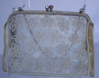 Vintage Josph of Italy beaded purse 1940s