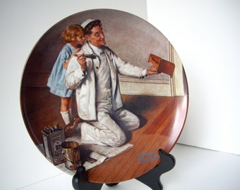 Vintage Norman Rockwell Plates The painter 1983 The Tycoon 1982