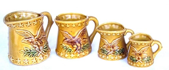 Vintage CM Chadwick Pottery of Japan Measuring Cups