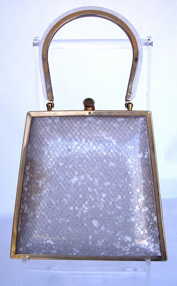 Vintage//  Lucite // Hollywood Glamour // Handbag // Purse // No Shipping Charge in US