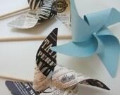 VINTAGE INSPIRED plus Tiffany BLUE set of 3 Large Gourmet Pinwheels