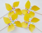 Pinwheels summer set of 4  pinwheels
