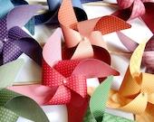 Pinwheels Autumn Mix YOU PICK the COLORS set of 8 Large  Pinwheels