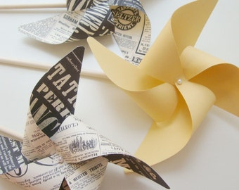 VINTAGE INSPIRED plus SAFFRON set of 3 Large Gourmet Pinwheels