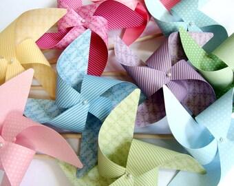 Pinwheels Subtles YOU PICK the COLORS set of 8 Large Pinwheels