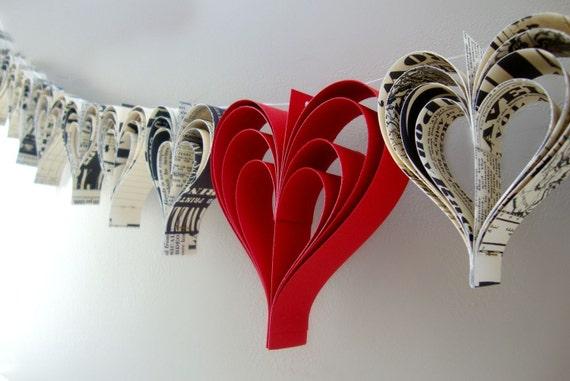 Heart garland banner