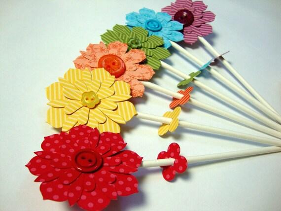 Flower pops set of 6