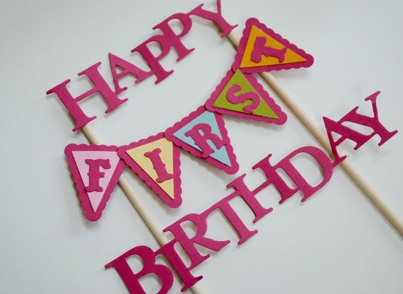 Custom cake topper birthday