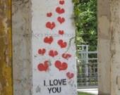 I Love You fine art print, stencil art, urban, streetart