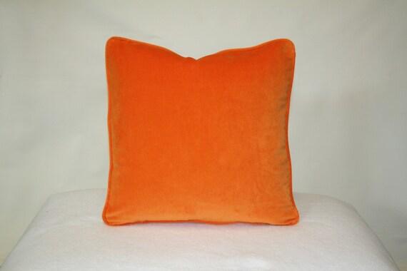 Orange Velvet Throw Pillows : Orange velvet pillows by CreativeDesignGuild on Etsy
