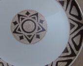 Mid Century southwestern style brown sun serving platter