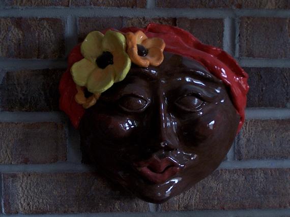Creole Woman Mask Wall Art