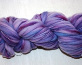Destash SALE Merino handspun yarn handpainted 55yds 2oz thick thin bulky PURPLE