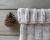 Hand knit rustic cowl / gray winter wheat / autumn accessory / country chic / earthy / warm gray / unisex / country cabin style / neck cozy