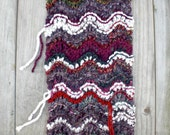 Knitting / Clothing / Shawl / autumn rustic / country style / colorful mix fiber / shoulder wrap / scarf / Maybe the White Dog handmade
