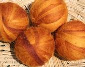 Wool Dryer Balls - Golden Orange Swirl - Set of Four