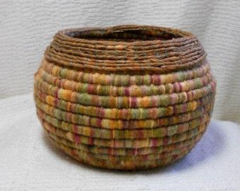 E160 Coiled Basket - Closed Coiled Technique