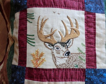 America The Wild Hand Embroidered Quilt MADE TO ORDER