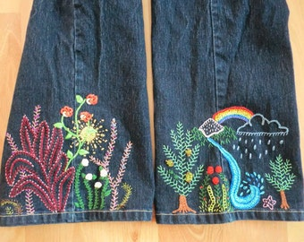 Coast to Coast FLOWER POWER Crewel and Brazilian Embroidery PATTERN