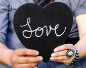 Large Chalkboard Heart Sign- Photo Booth Prop/ Ready To Ship