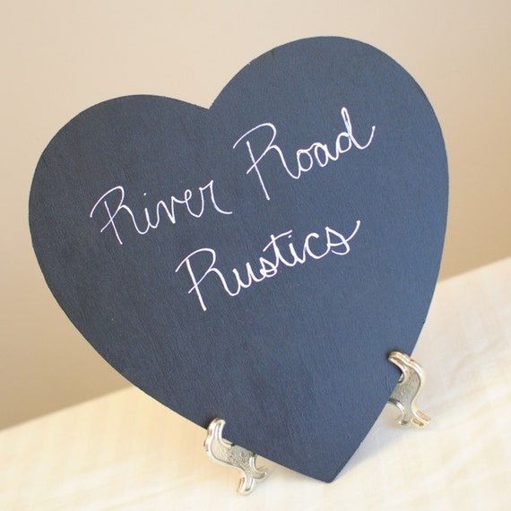 Custom order for MARCEY Large Chalk Board Heart Photography Prop (Includes chalk)and Easel