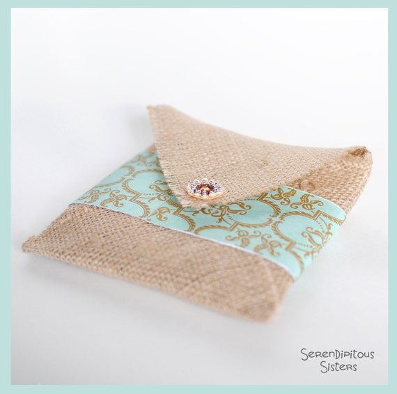 Custom Listing for ERIN 4 Tan Burlap CD Pouches sized to fit 8.5 x 11