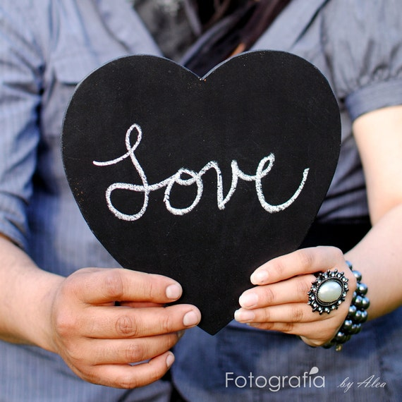 Large Chalkboard Heart Sign- Photo Booth Prop- Ready to Ship