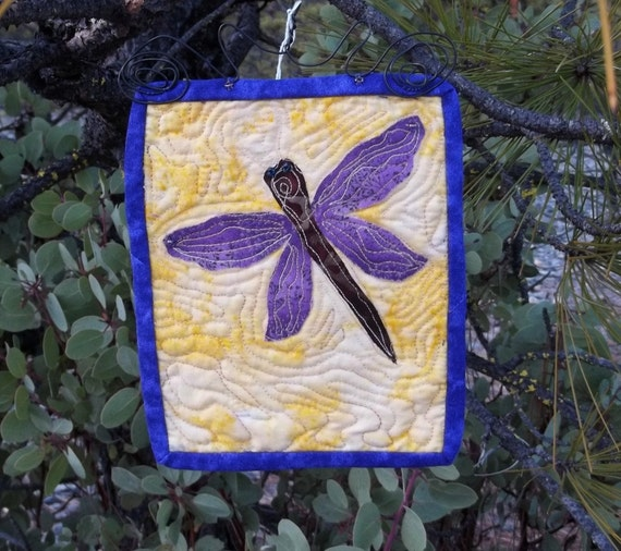 Wee Dragonfly Quilted Wall Hanging