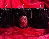 Black Gothic Votive Holders Halloween Decor