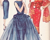 Vintage 50's Simplicity Pattern Misses Wiggle Dress 1452 - cocktail/evening/day dress Bust 34