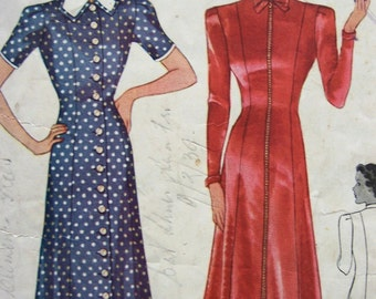 Vintage 30s McCall 9356 Junior Miss Dress pattern Size 15 Bust33
