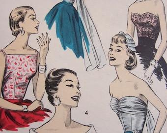 Vintage 1950s Advance Misses Evening Tops 8141  Bust 36 UNCUT , FF