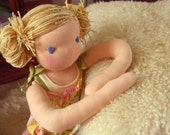 Reserved Listing - Custom Organic Waldorf Doll Deposit For Purple Delights