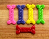 Dog Bone Crayons - Set of 5 Large Bones - Party Favors for Puppy Parties