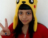 PIKACHU pokemon yellow winter hat