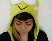 Cute KEROPPI green winter hat