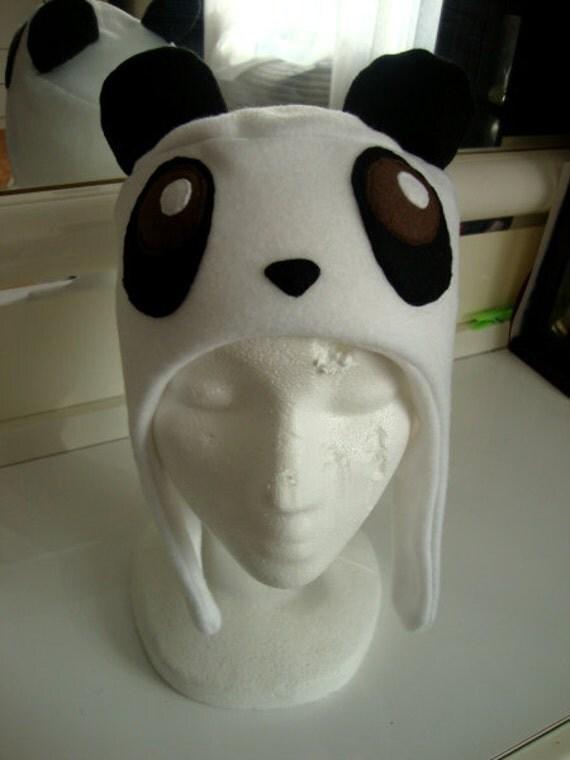 Cute PANDA black & white winter hat (CHILD SIZE)
