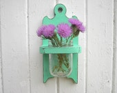 Wall vase wood sconce holder shabby chic decor distressed wood