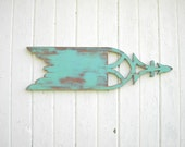 Primitive Weathervane vintage style sign decor verdigris