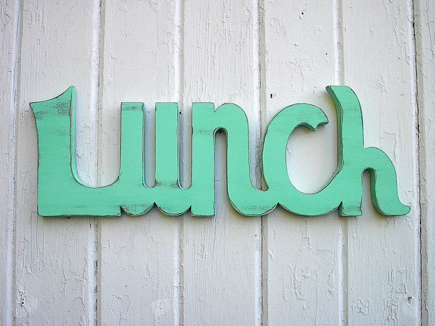 Wall art words wooden - Items Similar To Wood Word Sign Lunch Sign Shabby Chic